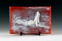 Kiln Formed Cameo Glass • Rose Medano Creek