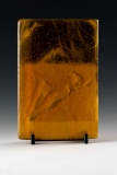 Kiln Formed Cameo Glass • Rose on dunes (back)