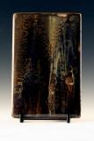 Kiln Formed Cameo Glass • Rose (back)