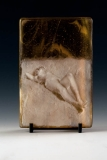 Kiln Formed Cameo Glass • Rose on dunes