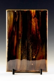 Kiln Formed Cameo Glass • Rose in Cottonwoods (back)