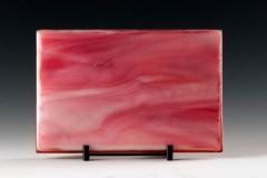 Kiln Formed Cameo Glass • Rose Medano Creek  (back)